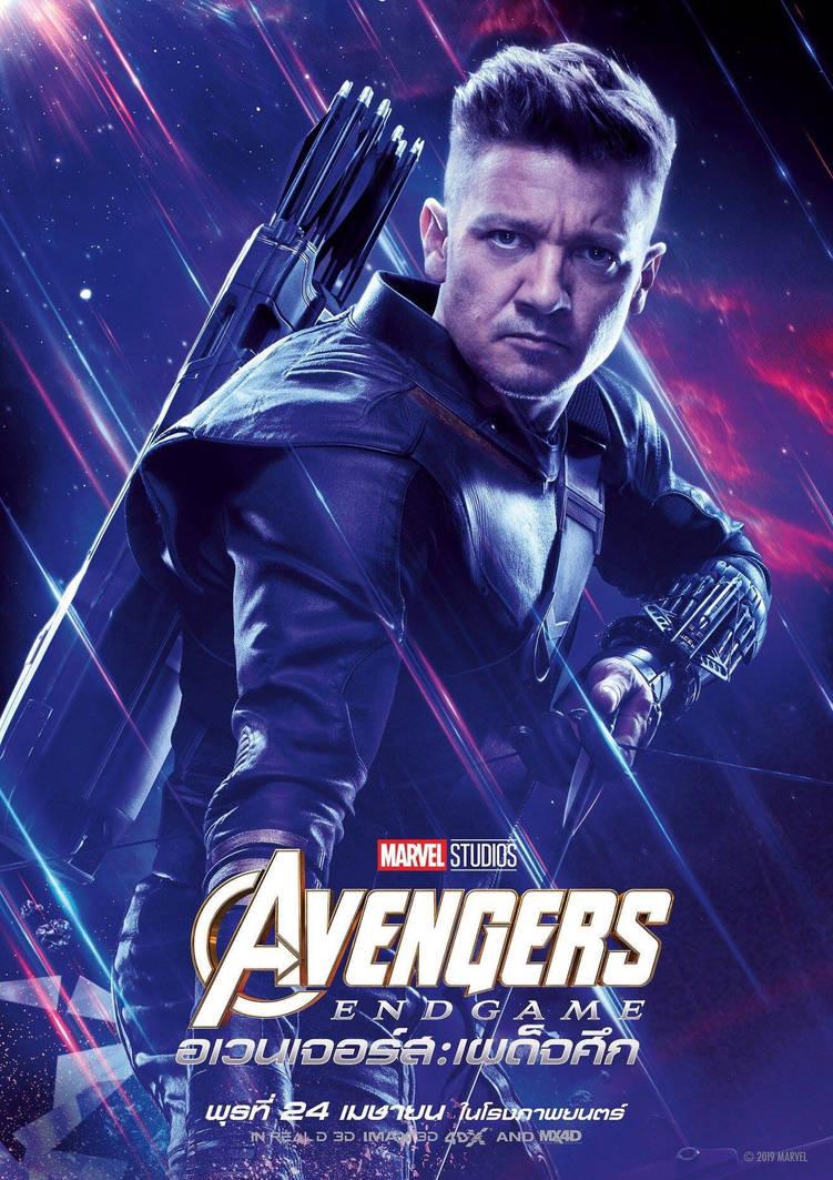 Avengers Endgame Hawkeye International Poster By Artlover67 On
