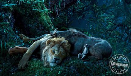 The Lion King (2019) Simba Timon and Pumbaa