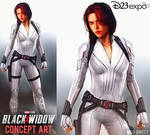First Look at Black Widow White Suit Concept Art
