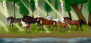 Forest Of Horse