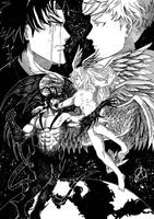 Akira Fudo x Ryo Asuka by aditparsial
