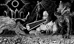 Guts vs Femto and New Band of the Hawk by aditparsial