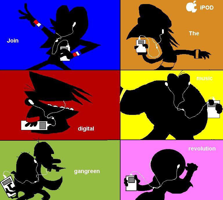 iPod Gangreen style by MushRoomRobot