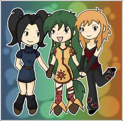 Three Weird Animals by Feena-chan