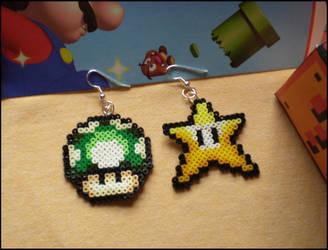 Mario Earrings by Feena-chan