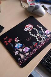 Yoshi's Island Mousepad by Feena-chan