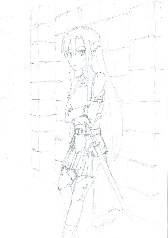 Asuna (pencil)
