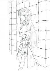 Asuna (Inked) by weiwere