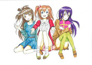 Love Live! Kotori Honoka Umi (Color) by weiwere