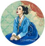blue hanbok