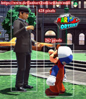 Super Mario Odyssey: Mario Height by sesshowmall