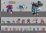 Mega Man X3: Height Chart