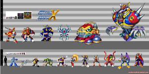 Mega Man X1: Height Chart