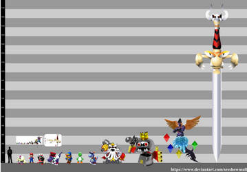 Super Mario RPG: Height Chart by sesshowmall