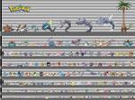 Pokemon: Kanto Height Chart (Gen 1+)