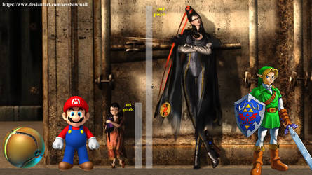 Bayonetta's Height by sesshowmall