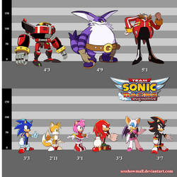 SONIC Overdrive: Size Inconsistencies