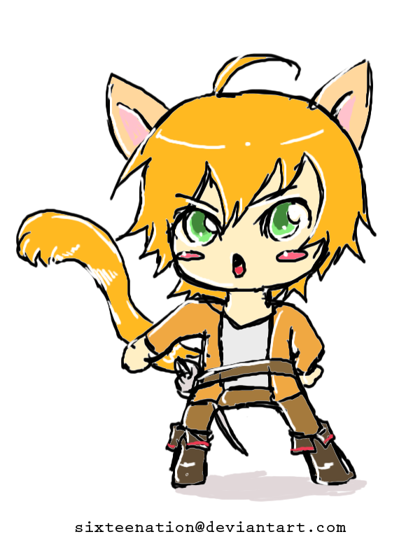 Puss in boots chibi gijinka by sixteenation on deviantart for Kitty softpaws coloring pages