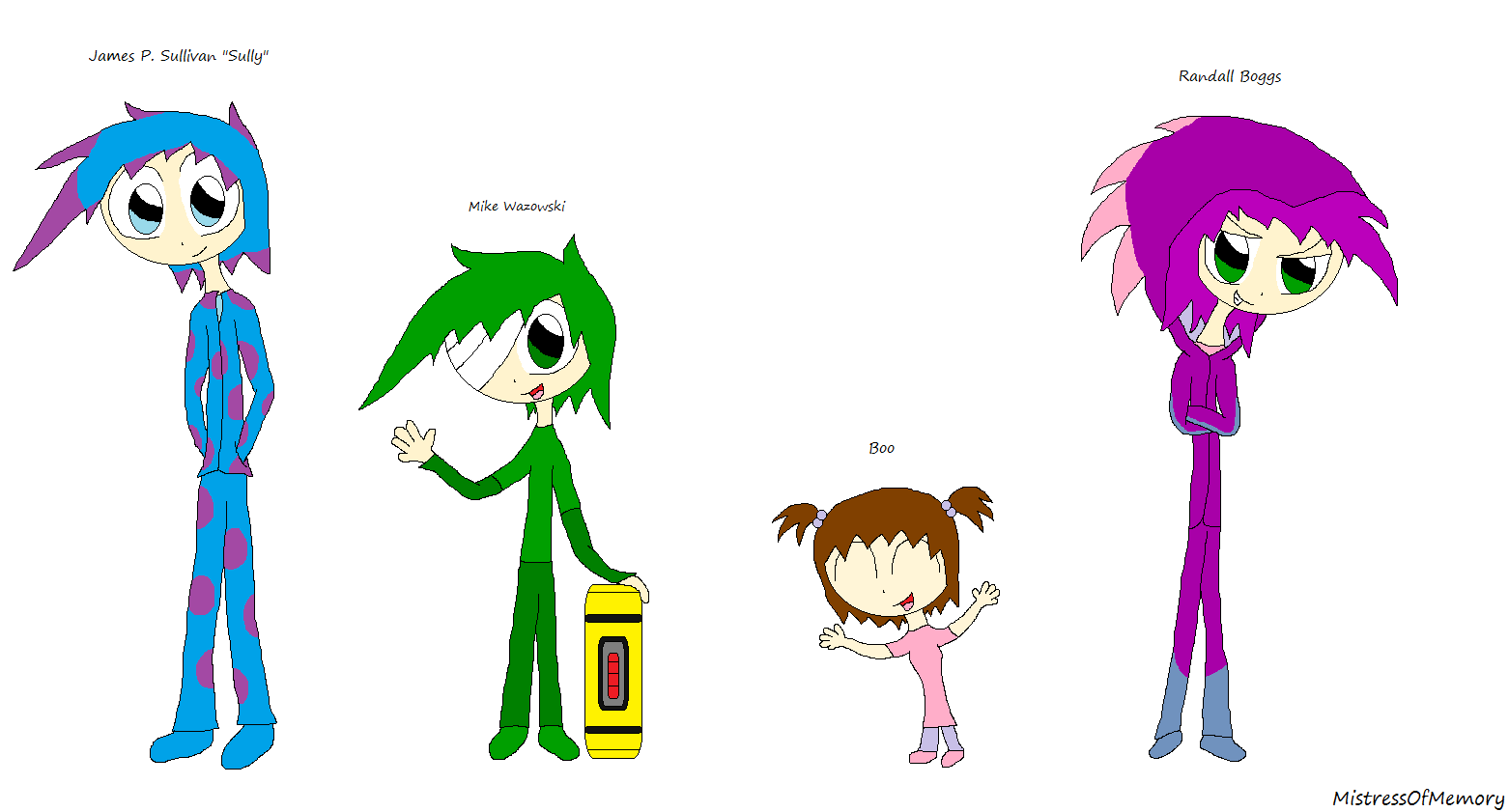 Monsters Inc Characters In My Style By Mistressofmemory On Deviantart