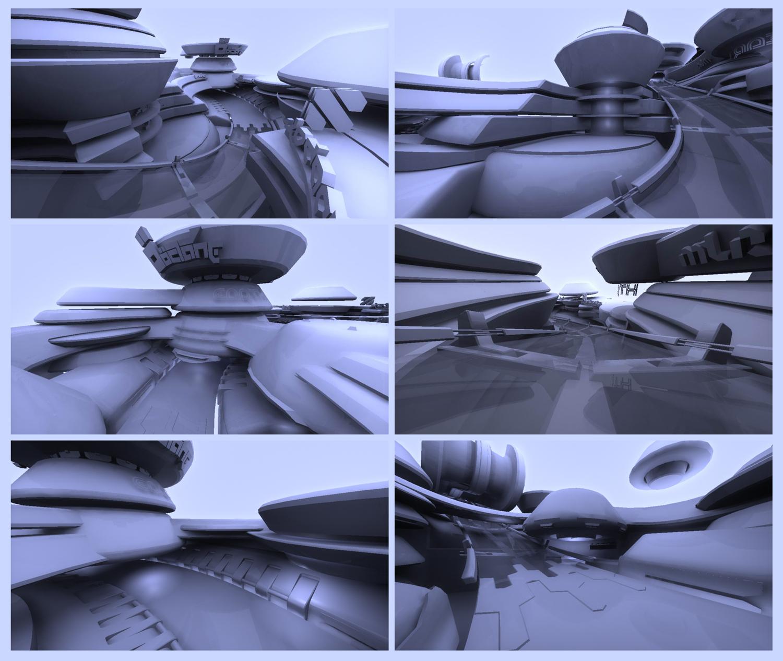 futuristic architecture by emmgeetee on deviantart