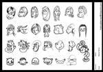 cartoon face sketch