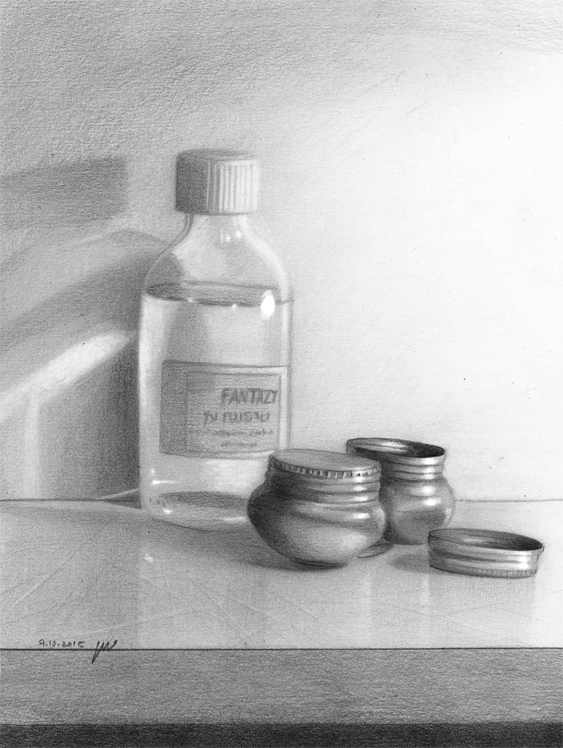 turpentine - pencil on paper by roni-yoffe