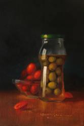 Ollives Tomatos
