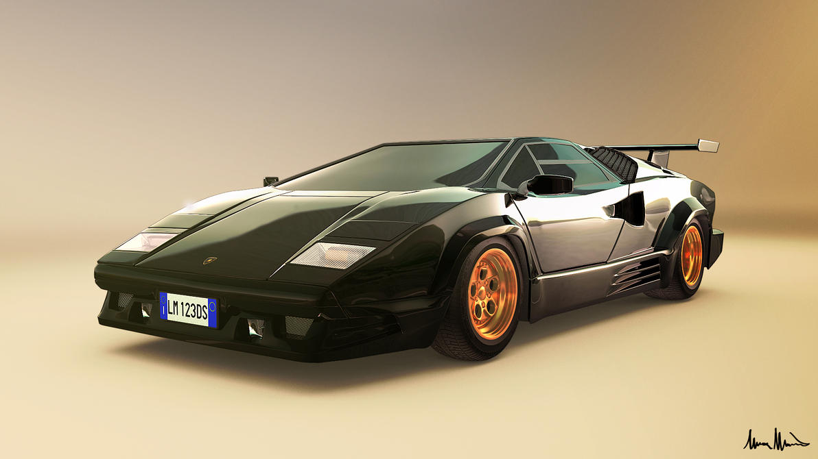 lamborghini countach 25th anniversary by lucamarin on deviantart. Black Bedroom Furniture Sets. Home Design Ideas