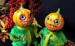 Pumpkin human for Halloween,doll by MelvonAndReine