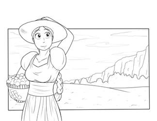 Belle In the Fields - Lines by Tangent-Valley