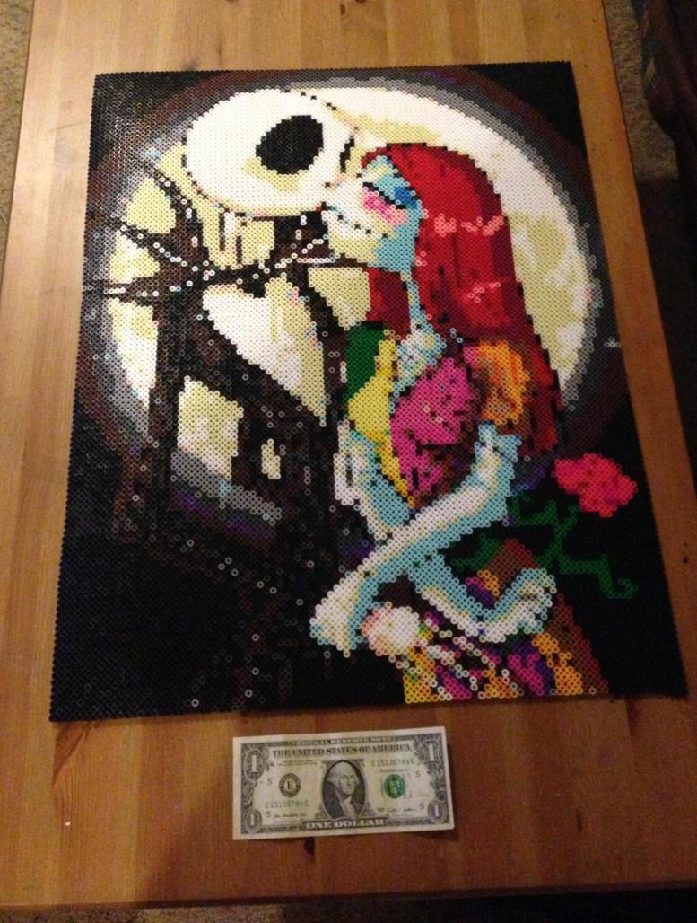 Jack and sally by karulaa on deviantart - Hama beads cuadros ...
