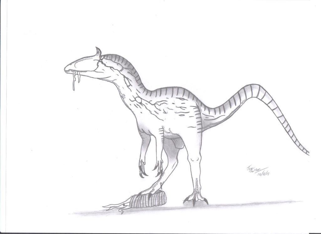 Cryolophosaurus ellioti by KingEdmarka