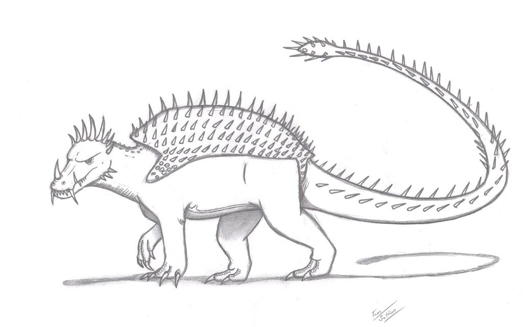 anguirus by kingedmarka on deviantart
