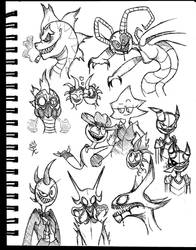 Needles Sketches by King-Edmarka