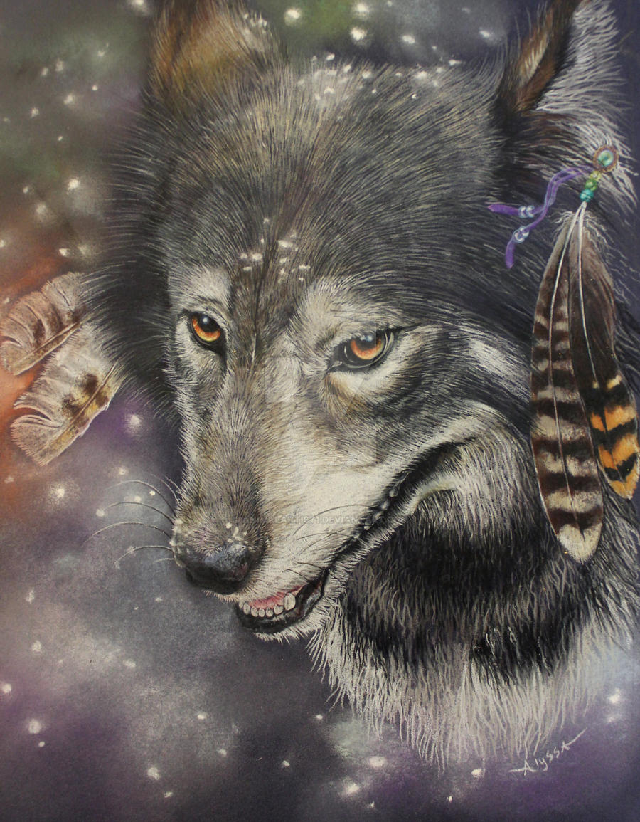 Native American Wolf by AnimalArtist1 on DeviantArt