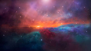 Space sunset