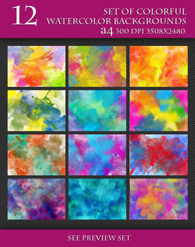 Beautiful Bright Watercolor Backgrounds