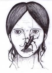 Creepy chick by Bulbacroak