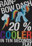 Rainbow Dash Typography Poster