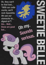 SweetieBelle Typography Poster by Skeptic-Mousey