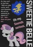 SweetieBelle Typography Poster