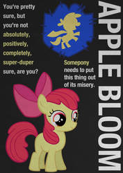 Apple Bloom Typography Poster by Skeptic-Mousey