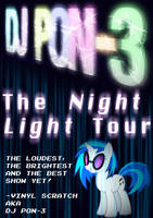 DJ P0N-3 Night Light Poster by Skeptic-Mousey