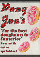 Pony Joe's Doughnuts Poster by Skeptic-Mousey