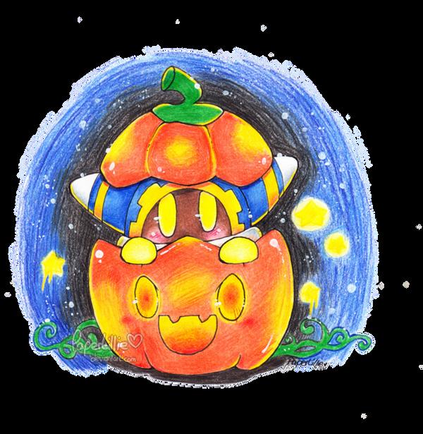 Alien in a Pumpkin by PaperLillie