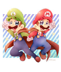 AT: Mario and Luigi - Destined by PaperLillie