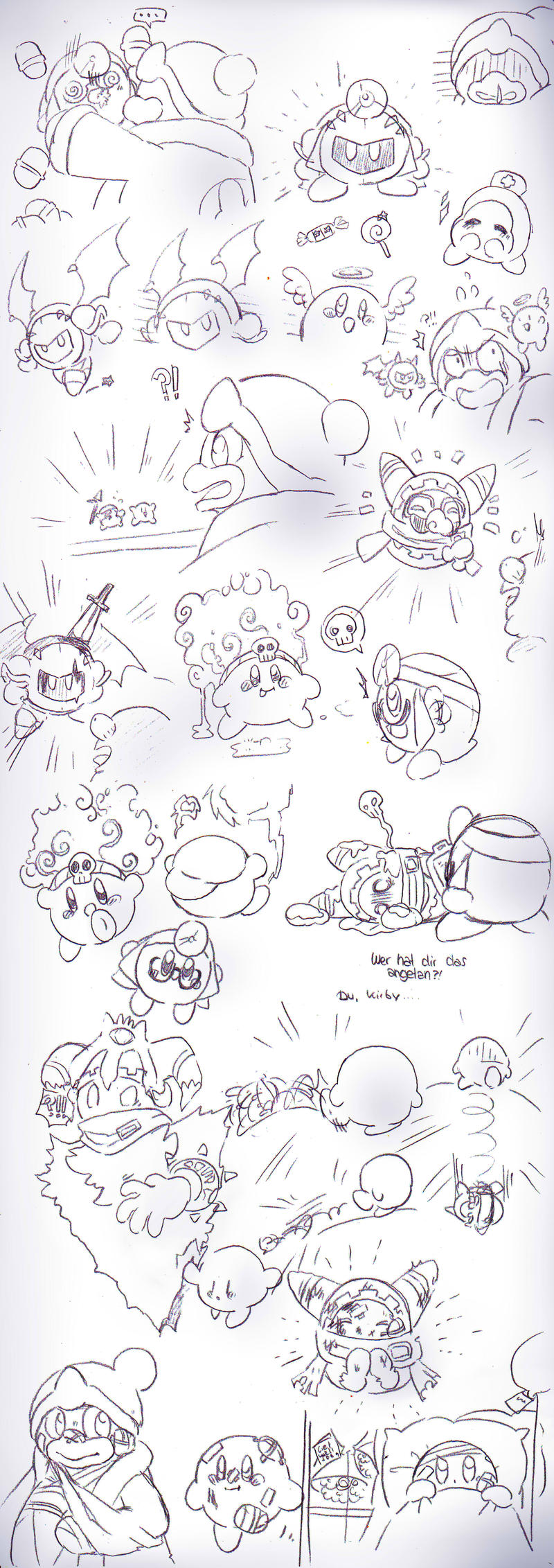 Kirby Doodles #3 by PaperLillie