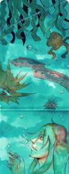 Aquatic yokais by Resosphere