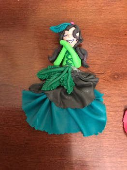 Fimo art girl with nature colors  girl