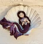 Mermaid in seashell, polymer clay